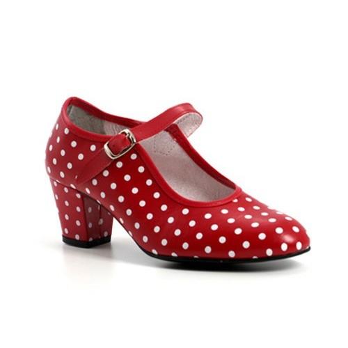 Zapato flamenco lunares