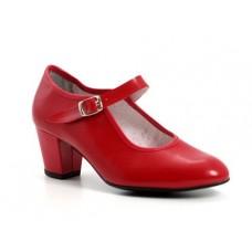 Zapato Flamenca Rojo