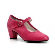 Zapato baile flamenco niña fucsia
