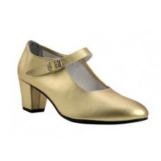 Zapato baile flamenco niña oro
