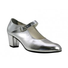 Silver Flamenco Shoes