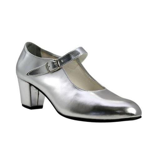 Zapato flamenco Plata