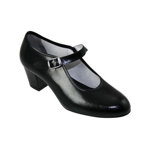 129572cf Zapato de baile flamenco en negro. Hecho en España.