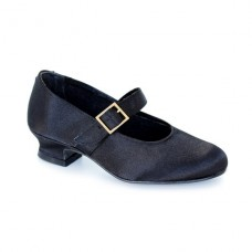 Satin regional shoes Black