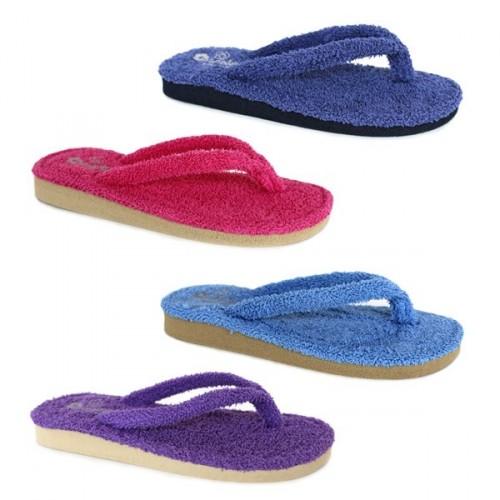 Zapatillas casa tipo chanclas para mujer de berevere v9301 - Zapatillas para casa ...