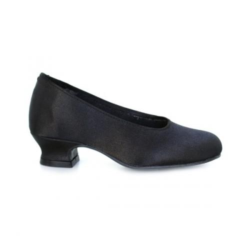 Low satin flamenco shoes