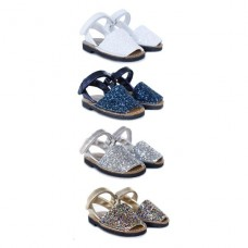 Girls Menorcan shoes with Glitter