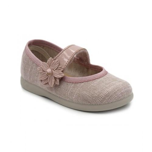 Girls linen mary jane Tokolate 1105A-54