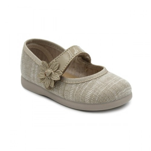 Girls linen mary jane Tokolate 1105A-54