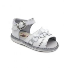 Sandalia piel niña lazos Hermi K332