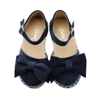 Girls espadrilles bow Bubble Kids 2432 Navy