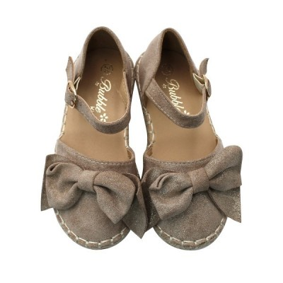 Girls espadrilles bow Bubble Kids 2432 Taupe