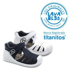 Leather sandals Titanitos L680 Jack