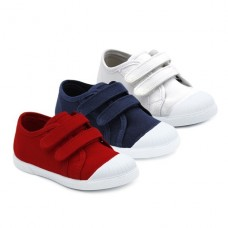 Boys canvas shoes riptape Batilas 86601