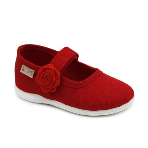 Merceditas lona niña Ralfis 6674 Rojo
