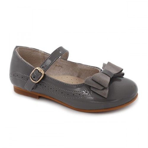 Patent leather mary jane Bubble Bobble 1657 Grey