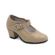 Zapato flamenco Camel