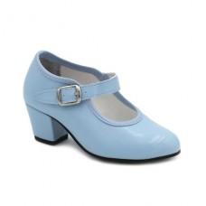Zapato flamenco Celeste
