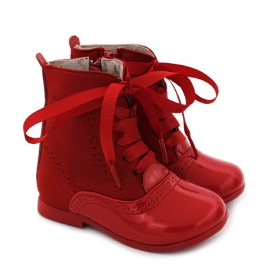 Girls ankle boots Bubble Bobble 1214 Red