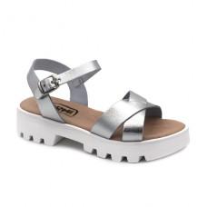 Platform sandals hermi MC493 Silver