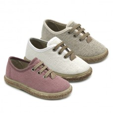 Linen blucher for kids 1000-LC
