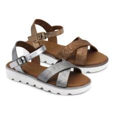 Metallic sandals Bubble Kids 2887