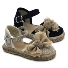Girl espadrille with linen 1001-L5