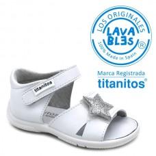 Washable sandals Titanitos L670 CANDELA
