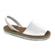Heel minorcan sandals Hermi 99350 WHITE