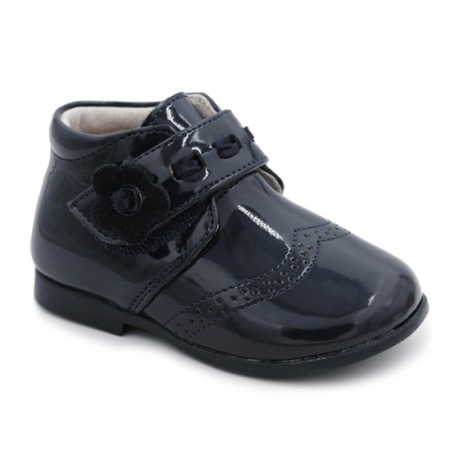 Patent leather booties Bubble Kids 2608 Navy