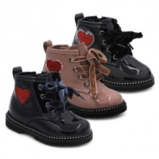 Girls patent leather boots Bubble Kids 3125