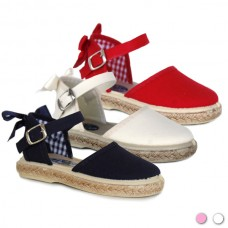 Girls espadrille bow 1001-PL