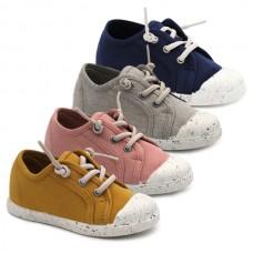Zapatillas lino niña Tokolate 4011-65