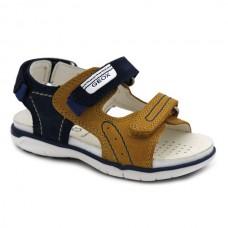 Boy leather sandals Geox Delhi B154LC
