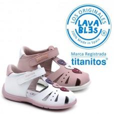 Girl sandals Titanitos L671 Casandra