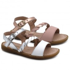 Girl leather sandals Conguitos 30058