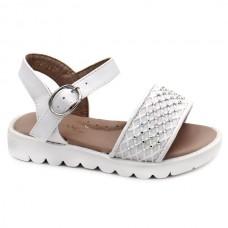 White strass sandals Bubble Kids 3392