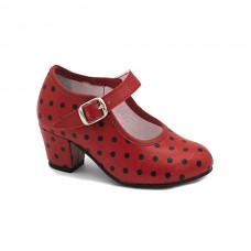 Black polka-dot Flamenco Shoes 17