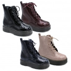 Patent leather platform boot Bubble Kids 3432