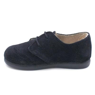 Split leather blucher Tokolate 1245-10 navy
