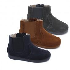 Split leather boots Tokolate 1225-10