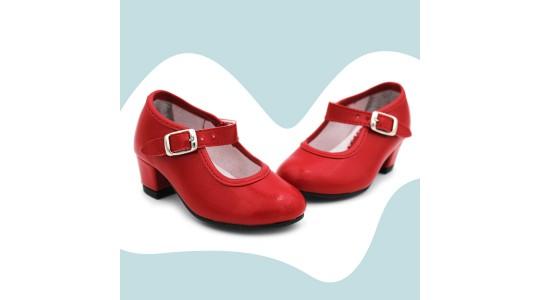 Zapato andaluza plata oro rojo topo blanco - Oro, Talla 22