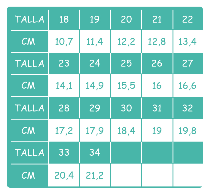 Size guide - Batilas 57701